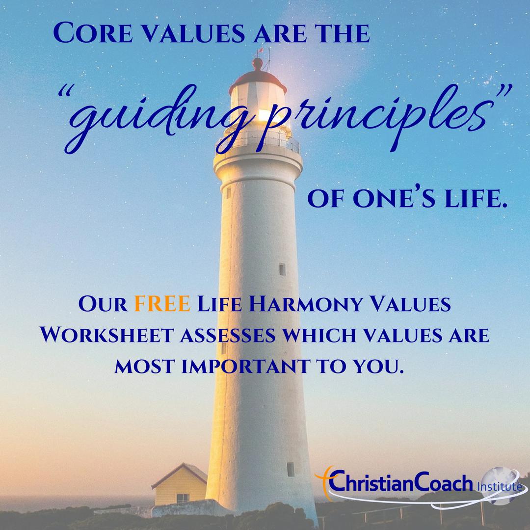 Core Values Worksheet