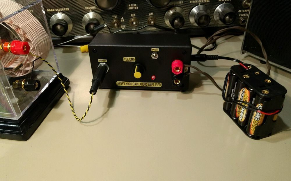 High Gain Audio Amplifier for Crystal Radio Listening | Stuff to Buy