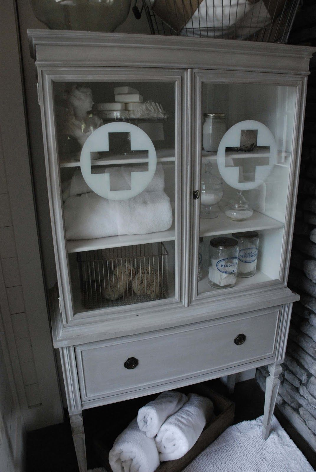 WaterHouse Market: Antique Painted Apothecary Cabinet