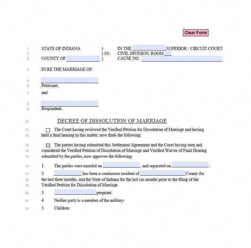 Divorce Papers Template 11 #divorcepapers Divorce Now Pinterest