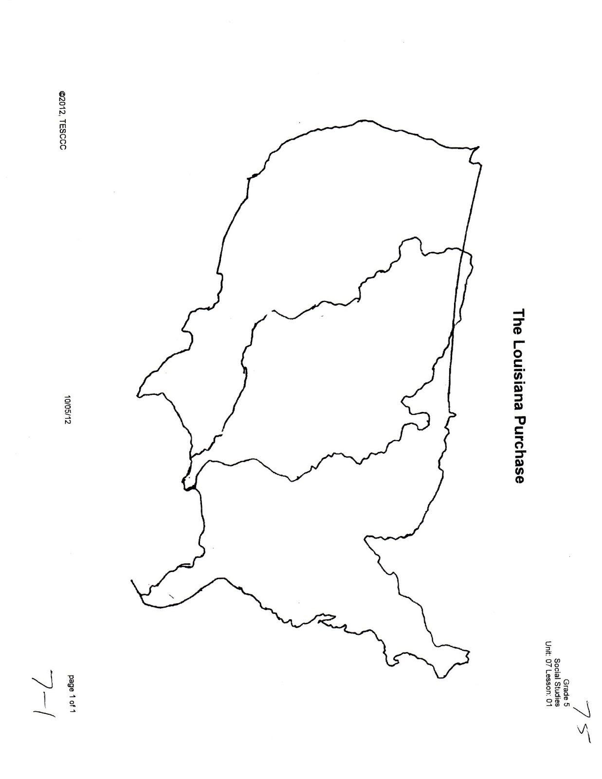 Louisiana Purchase Map