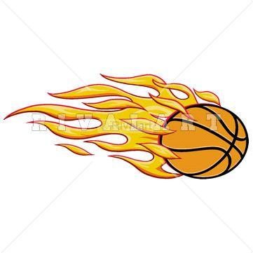 sports clipart image of basketball on fire flaming blazing blazers rh pinterest com