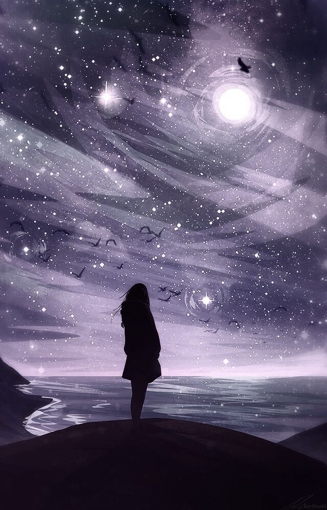 Animated Lonely Girl Wallpapers Of All The Stars In All The Galaxies I Had To End Up Here