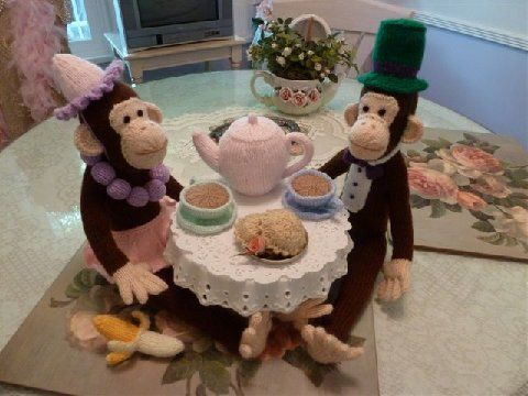 chimps tea party
