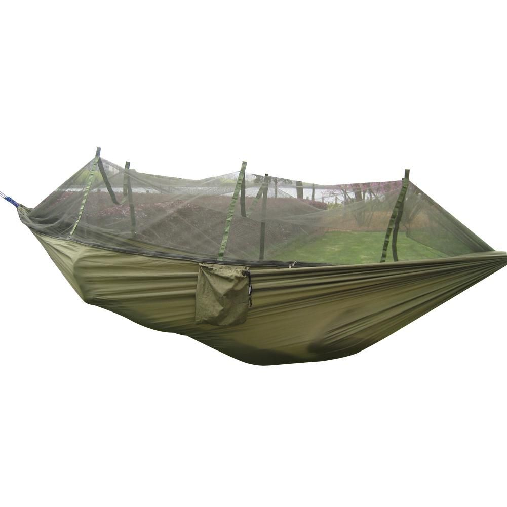 Portable hanging nylon bed mosquito net camping outdoor hammock