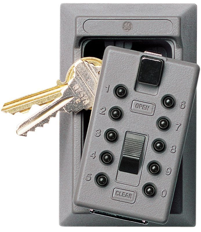 GE Security 001015 KeySafe Original 5-Key Permanent Key Box with