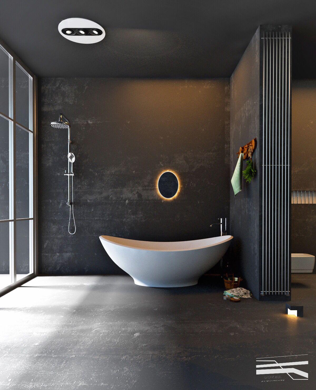 29 Disenos Banos Visitas Elegantes 21: Bathroom, Dark Bathrooms Y Bath Design