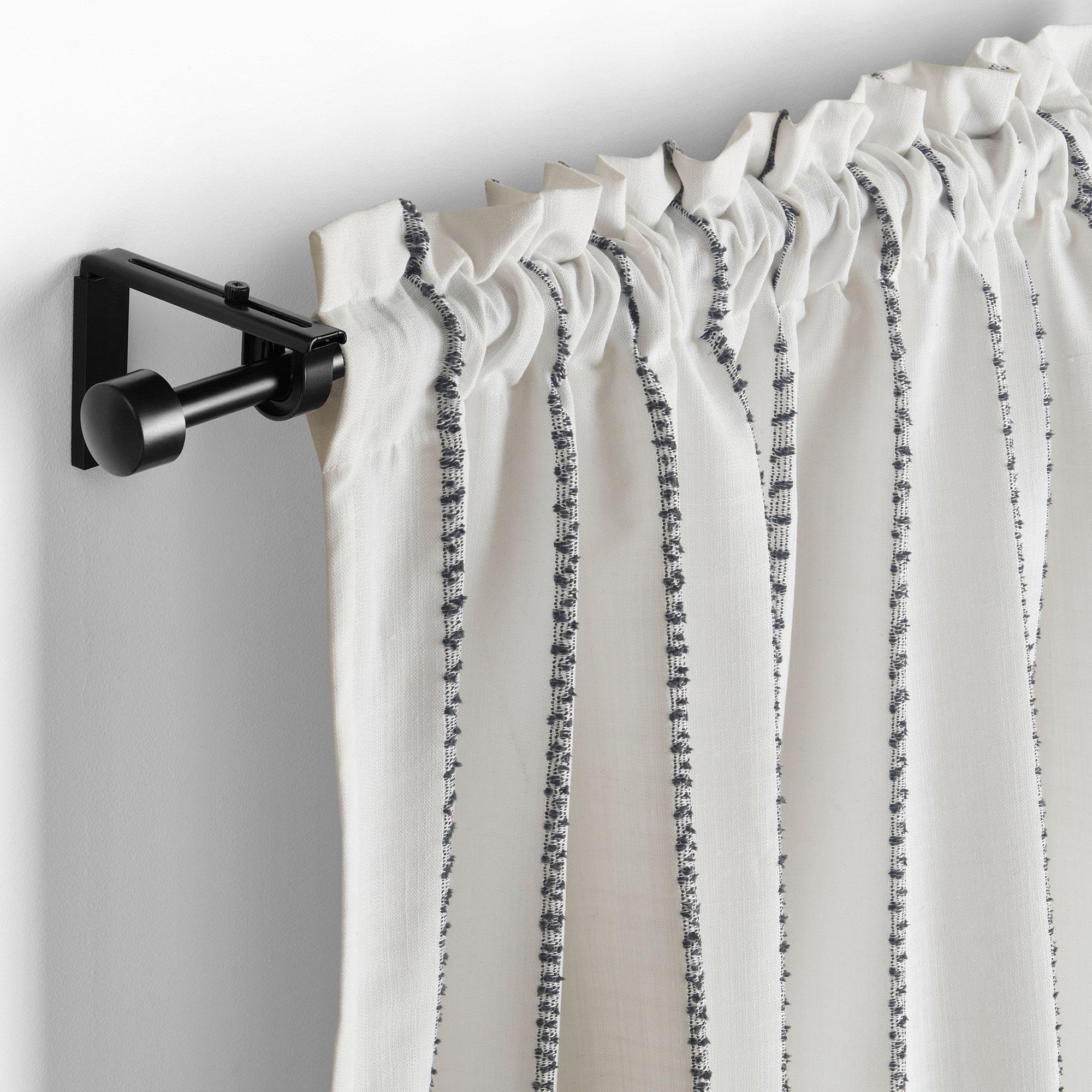 Ikea Vilmie Linje White Dark Gray Curtains 1 Pair In 2020