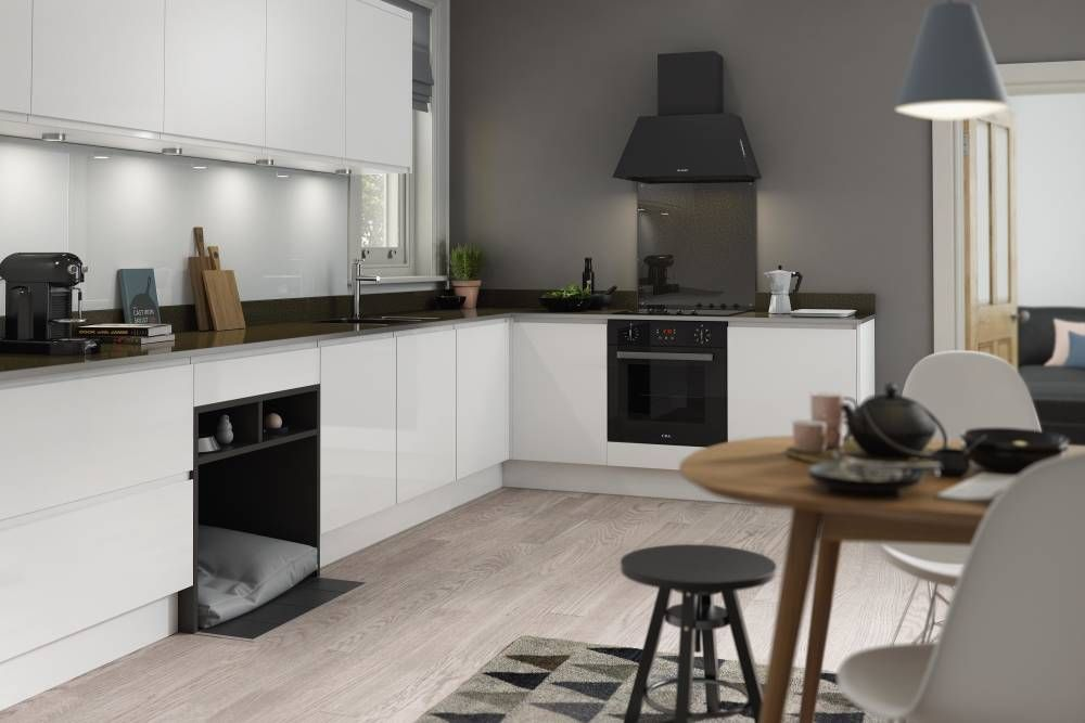 handleless kitchen in white wren kitchen open kitchen and living room modern kitchen uk on j kitchen id=26953