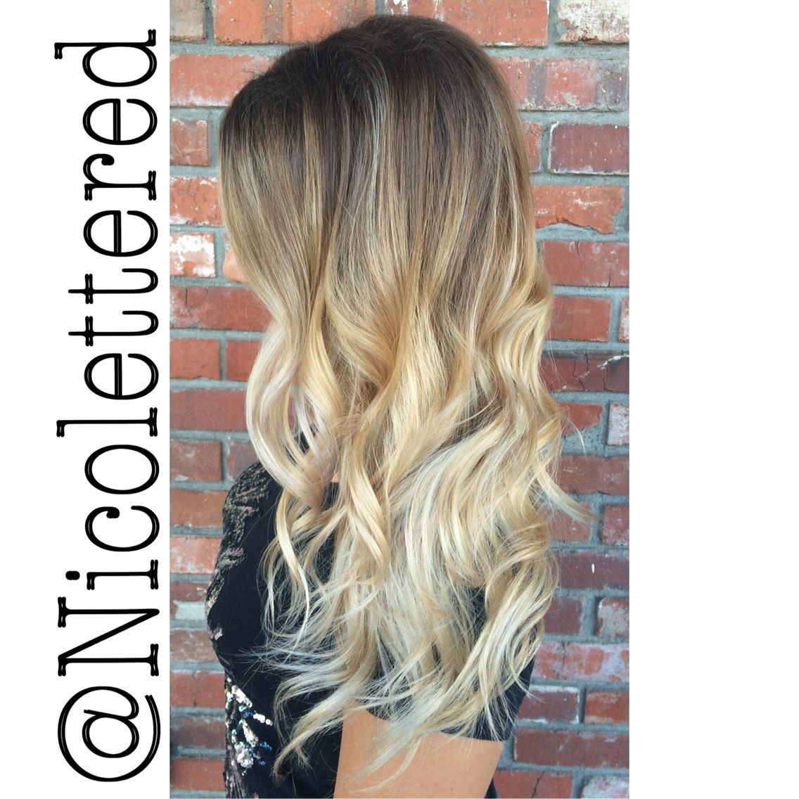 Rooty Blonde Balayage By Nicolette Redinger Poppy An Eco Friendly