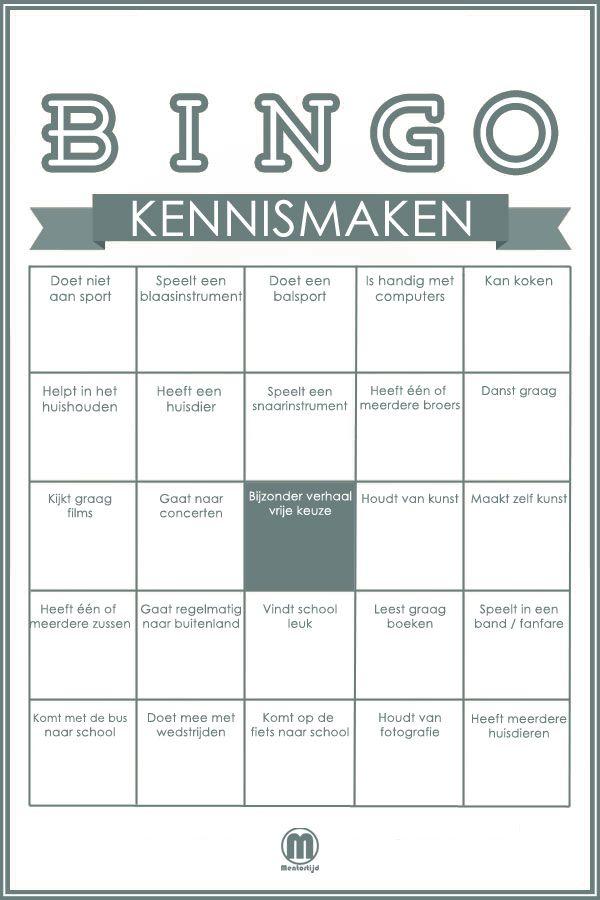 Magnifiek Leer je nieuwe klas kennen met deze bingo. | CT en C - Starting &LW16