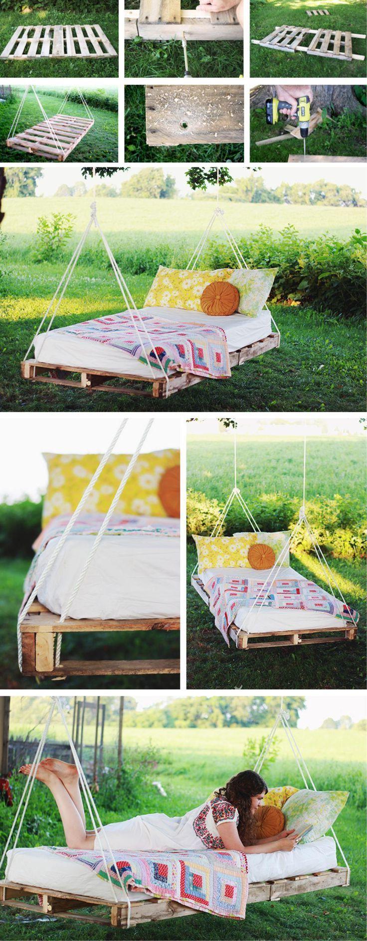 Einzigartig Hängendes Bett Sammlung Von Hängebett Selber Bauen: 44 Diy Ideen Für