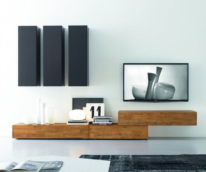 Genial Modern TV Wall Made Of Solid Wood. Italian Hand Made. Custom Ddesign FGF  Mobili Wohnwand C14B #italy #interiror