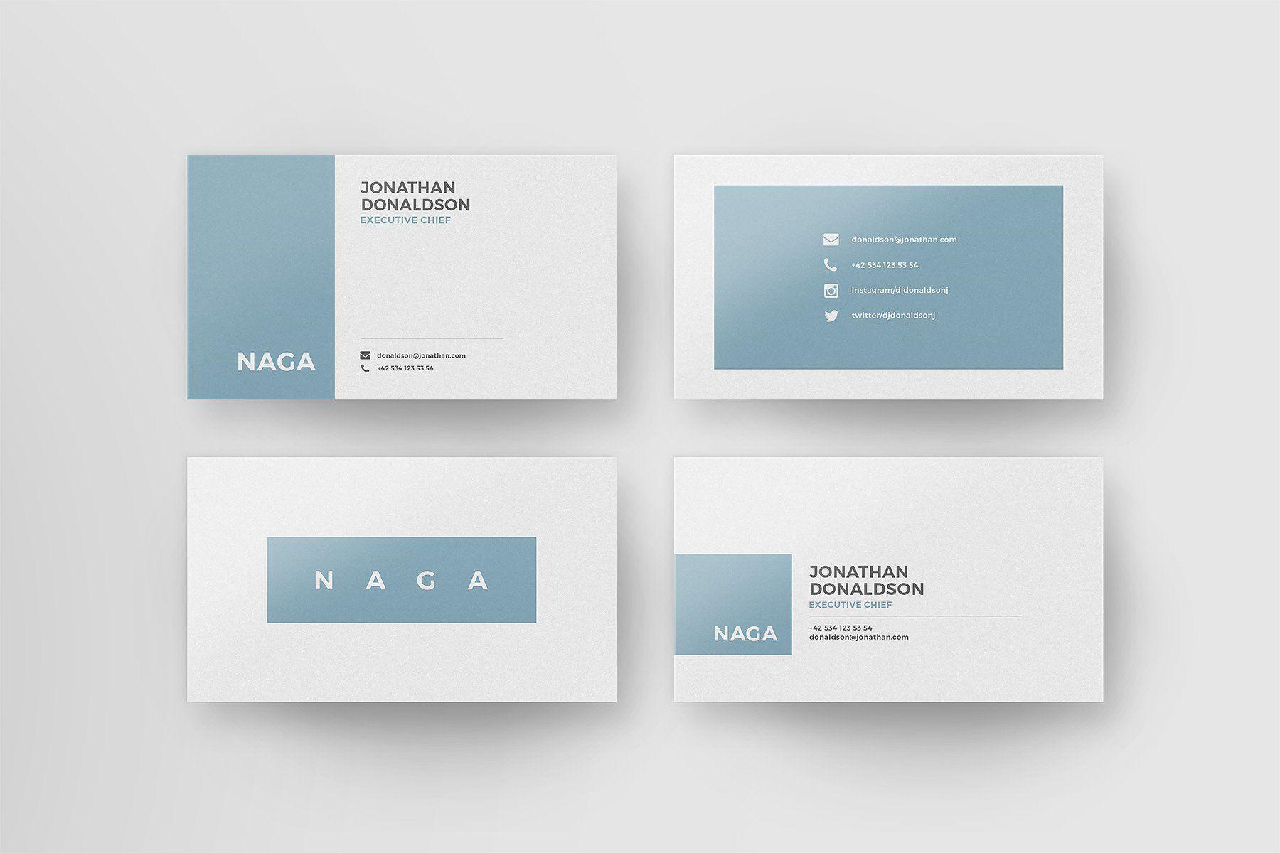 Naga – Business Card Template #Card#Templates#Horizontal#Photoshop