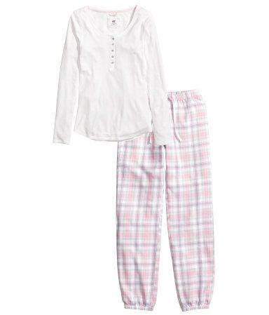 eb33de1f8 H&M Pijama de dos piezas S/. 89.95 | Cosas para comprar | Pijama, H ...