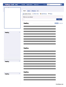 faux facebook profile in a word document so students can add their