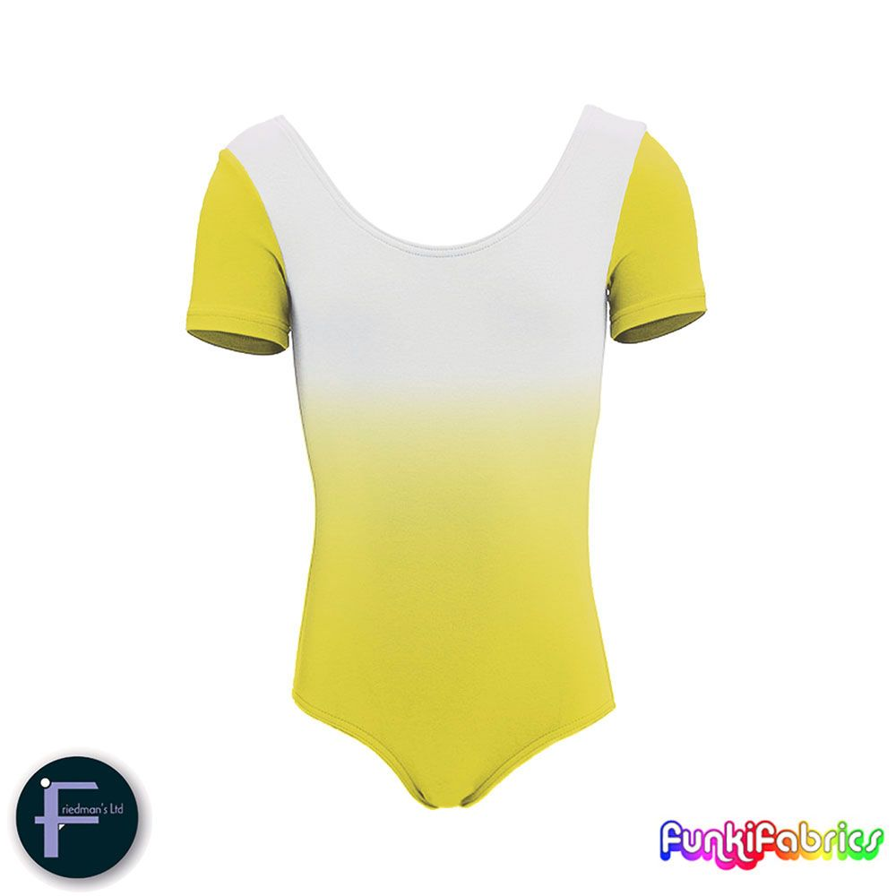 Our brand new 'mirror-shading' fabric in Yellow #fabric #Lycra #sewing https://funkifabrics.com/product/1810