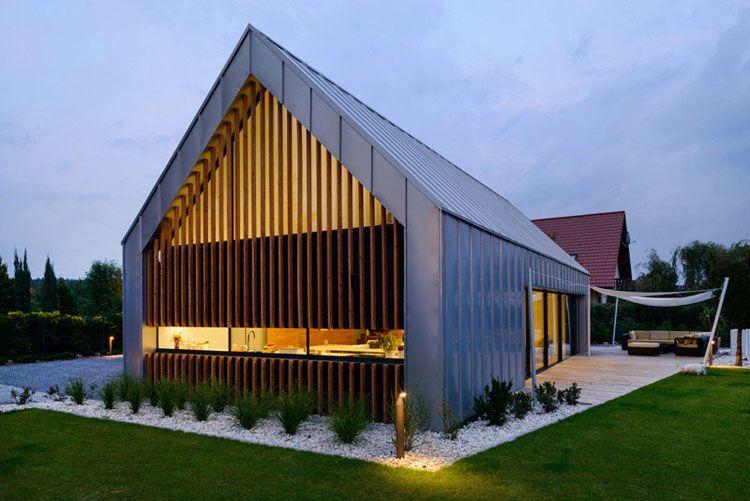 Dom dwie stodoły w Tychach. Projekt: RS+ Robert Skitek. Zdjęcia: Tomasz Zakrzewski
