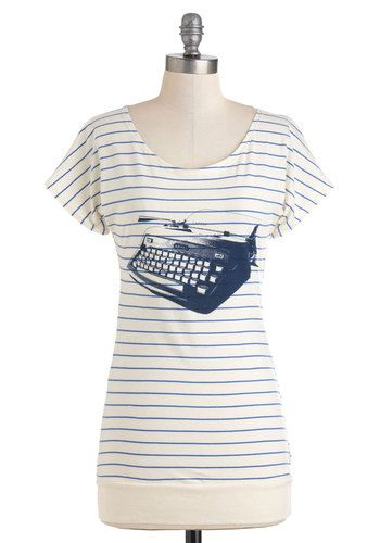 My Type of Tee Top - modcloth.com - $44.99 - Another one that is perfect for Chrissy! (but I need one, too)