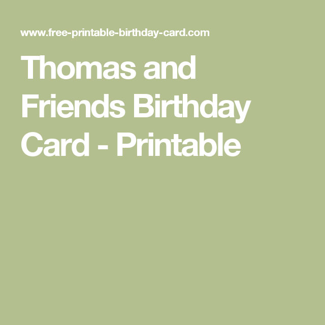 Thomas and friends birthday card printable using a computer for print this thomas and friends birthday card easy insert your own happy birthday message and then when your happy print it from your home computer bookmarktalkfo Image collections
