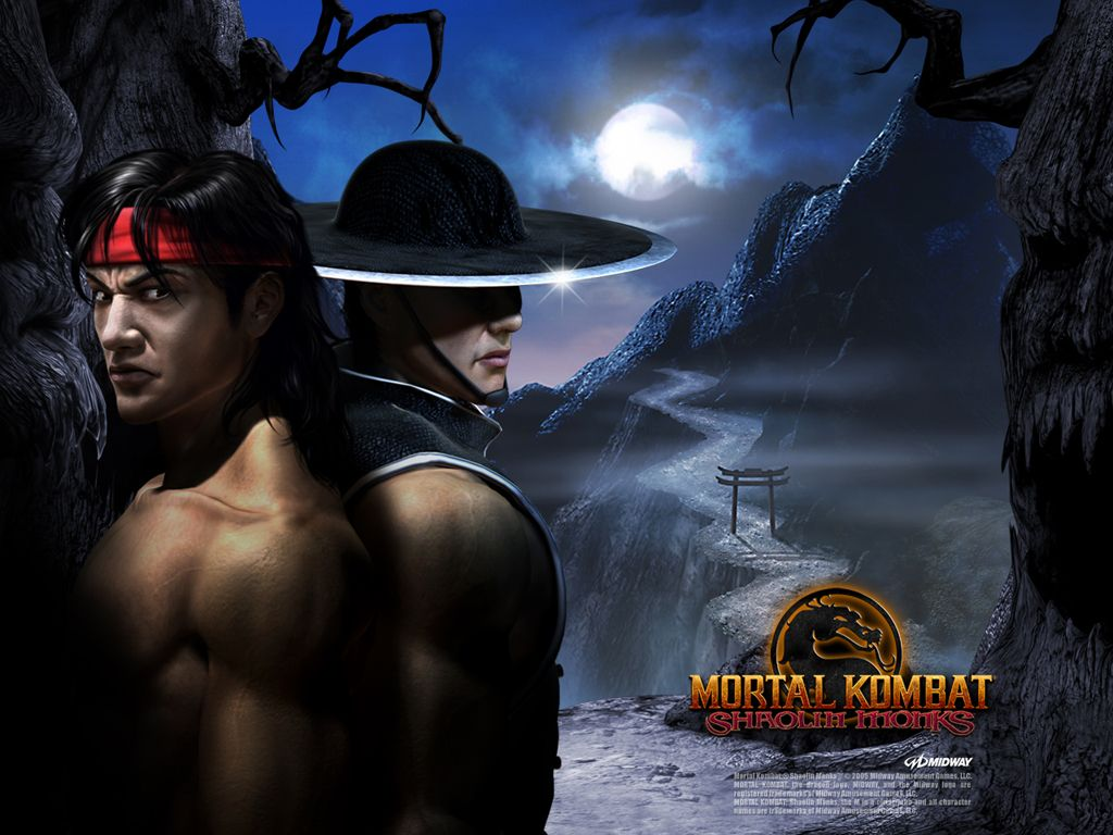 Kung Lao And Liu Kang In Mortal Kombat Shaolin Monks Wallpaper