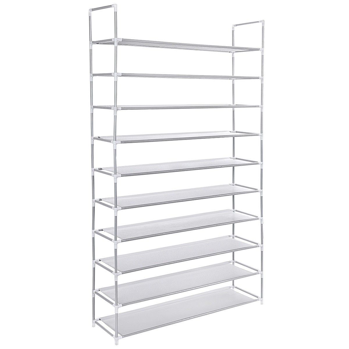 50 Pair 10 Tiers Shoe Rack Shelf Storage Organizer 24 95 Free Shipping The Non Slip Shelves Which Are Fully Adjust Shoe Rack With Shelf Rack Shelf Shoe Rack