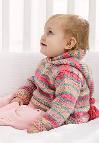 Free Pattern Hoodie By Patons Knitting For Little People