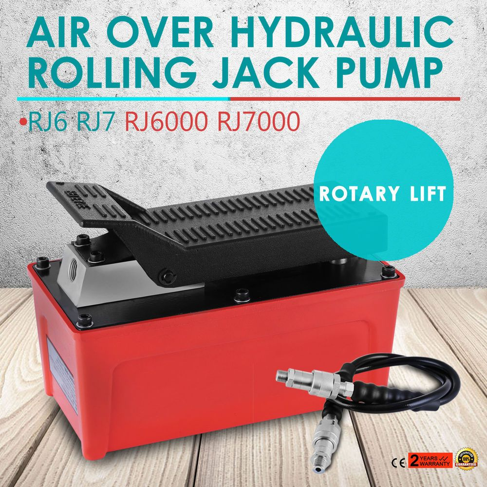 AIR FOOT PEDAL HYDRAULIC PUMP FOR AUTO BODY FRAME MACHINES