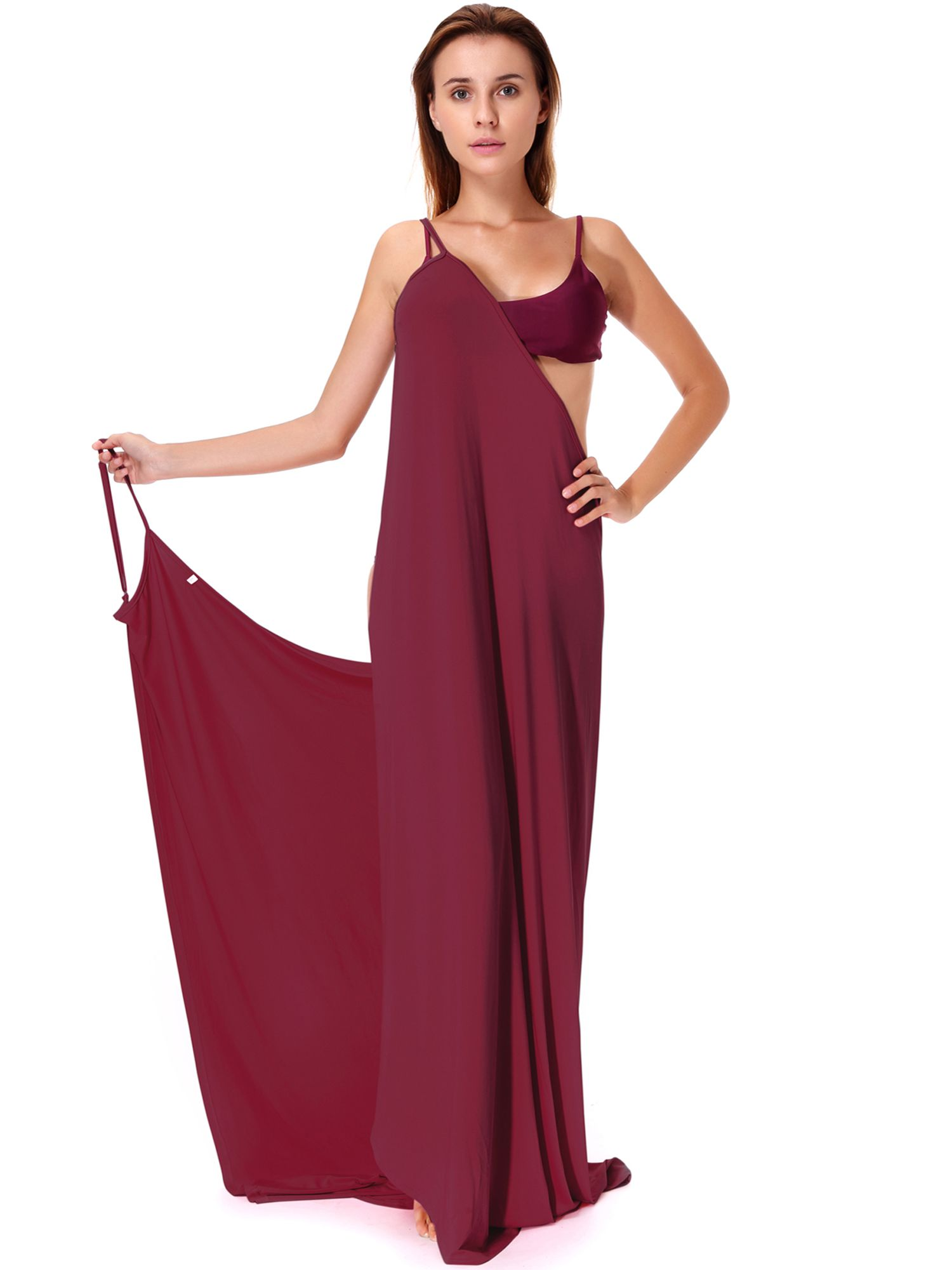 ef5cdb38e4 LELINTA Junior's Plus Size Bikini Cover Up Swinsuit Wrap Spaghetti ...