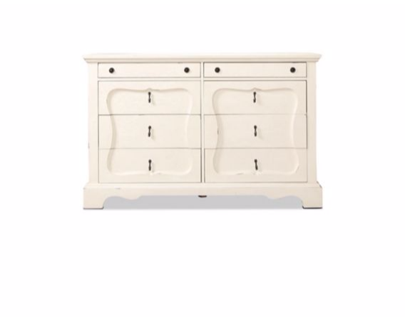 Farmhouse French Inspired Silhouette Dresser 56W X 18D X 40H