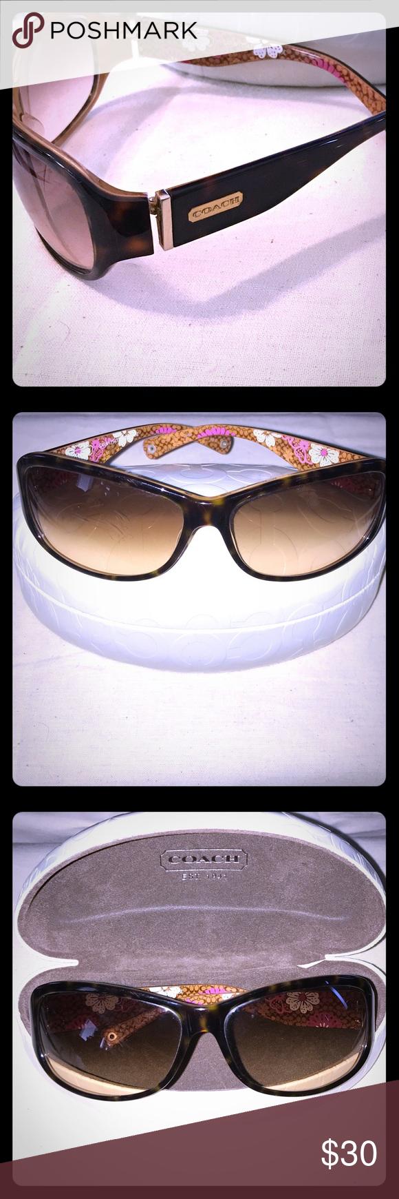 9ab038b7b0d7c 😎Coach Sarah Sunglasses (Authentic) Coach Tortoise Shell and Floral  Sunglasses. Brown tortoise
