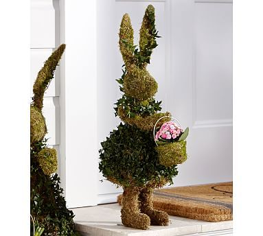 Live Ivy Bunny With Basket Topiaries Topiary Outdoor