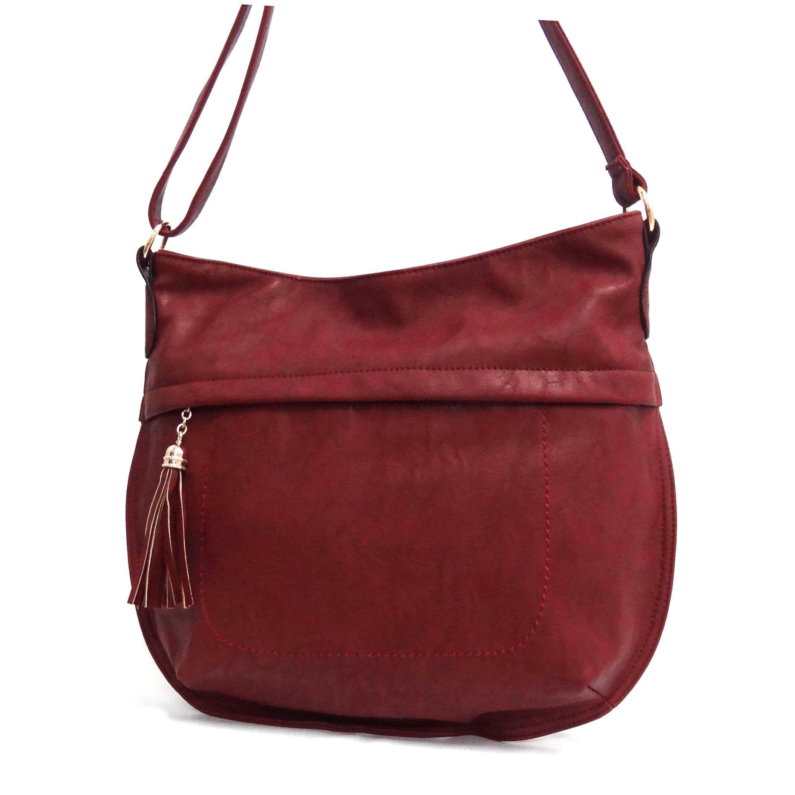 Bandolera Grande Color Rojo, de mibolsomivida.com