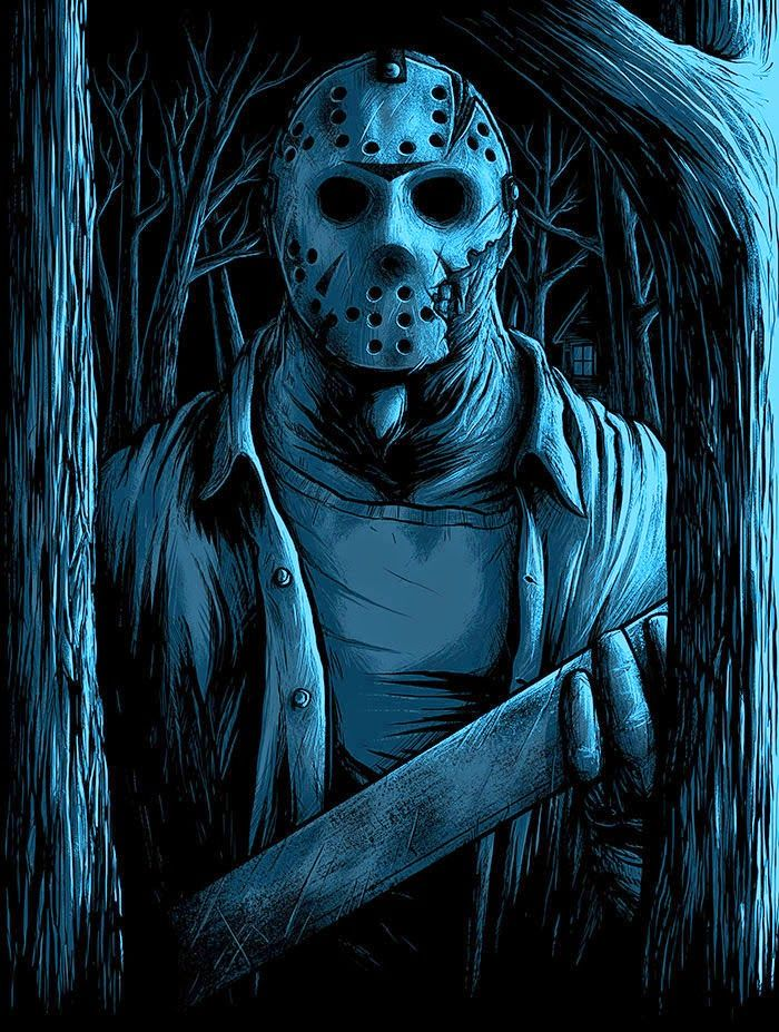 INSIDE THE ROCK POSTER FRAME BLOG: Matthew Johnson Friday the 13th Welcome To Camp Crystal Lake Prints