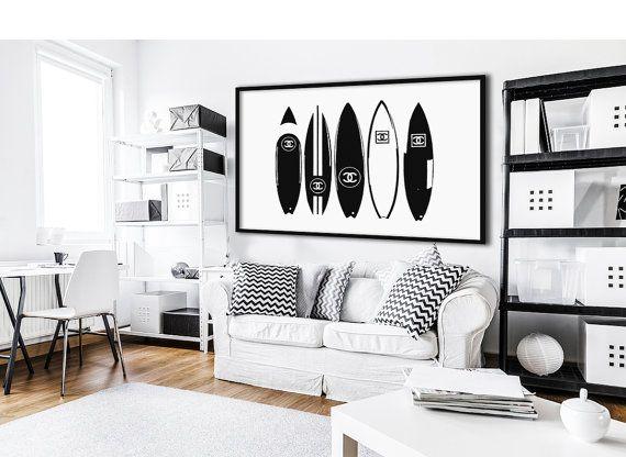 Chanel planches de surf affiche imprimable affiche de par dantell affiches pinterest for Poster et affiche