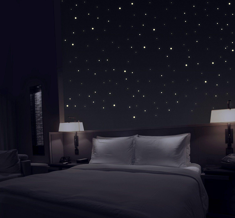 Amazon De Talino Sternenhimmel Aus 277 Selbstklebenden Leuchtpunkten Mit Extra Starker Leuchtkraft Mit Bildern Dekor Einrichtungsideen Schlafzimmer Wohnen