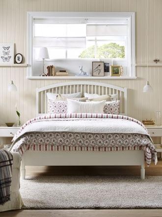 tyssedal bed frame, white, lönset | feelings, room and lights