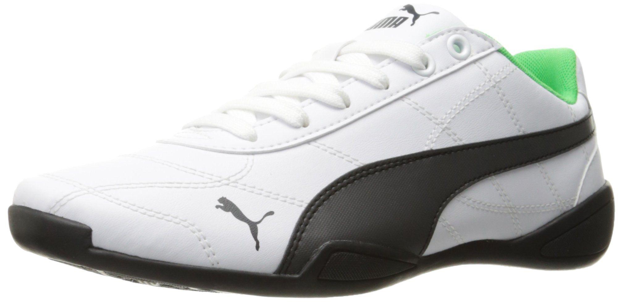 brand new 4457b c2914 PUMA Kids  Tune Cat 3 JR Running Shoe, Puma White-Asphalt, 5.5