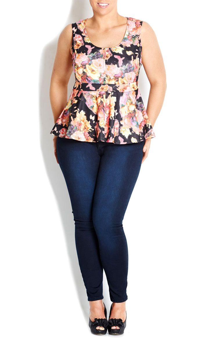 126cb5125 City Chic - ROSE PONTE PEPLUM TOP - Women s plus size fashion  citychic   citychiconline  sweetsteals  plussize