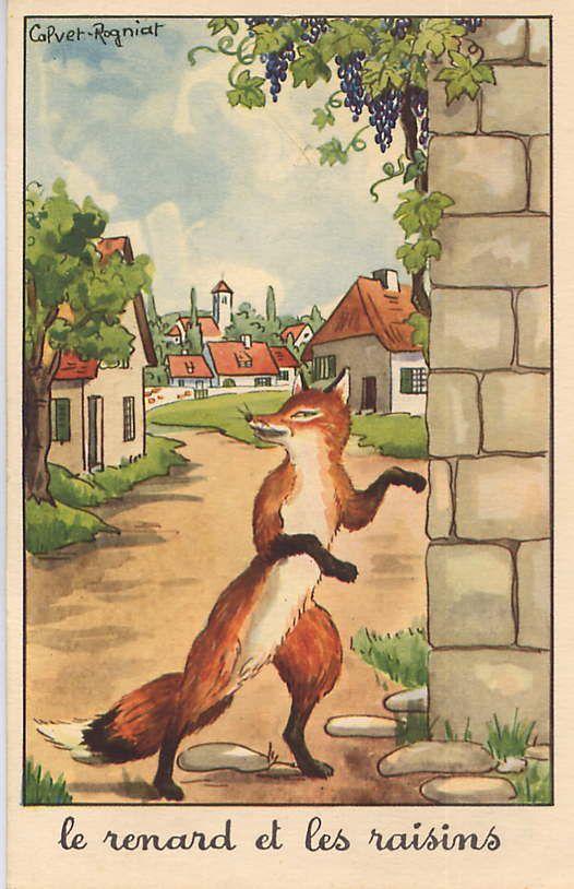 H raldie calvet rogniat illustrateur des fables - Dessin le renard et la cigogne ...