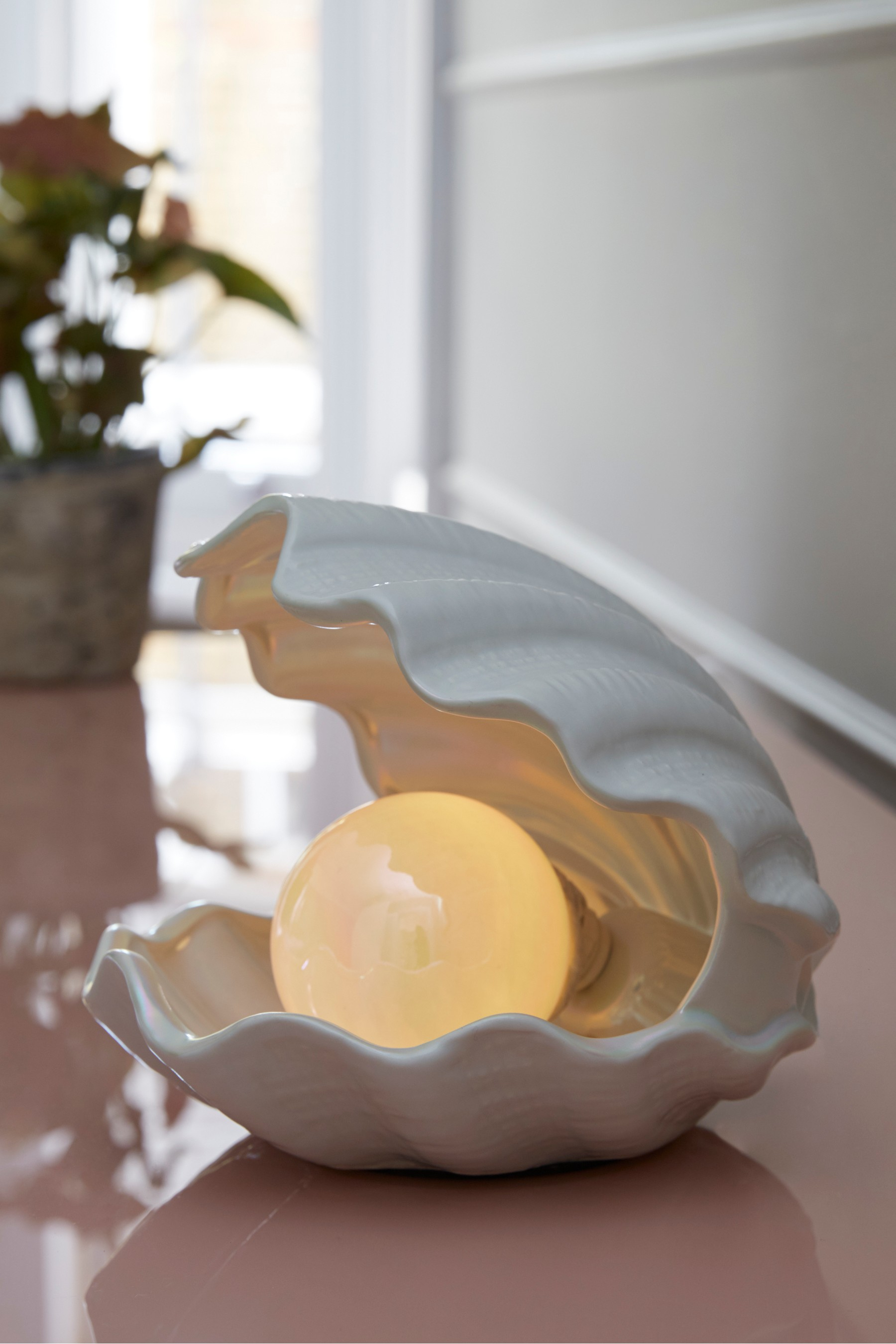 Cream Bedside Tables: Next Pearl Shell Table Lamp - Cream In 2019
