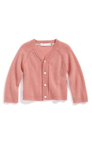 Free shipping and returns on Burberry Cashmere Cardigan (Baby Girls) at  Nordstrom.com ab0b66577336