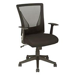 Brenton Studio Radley Mesh Mid Back Task Chair Black In 2020 Comfortable Office Chair Ikea Chair Chair