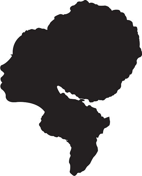 afro silhouette - google