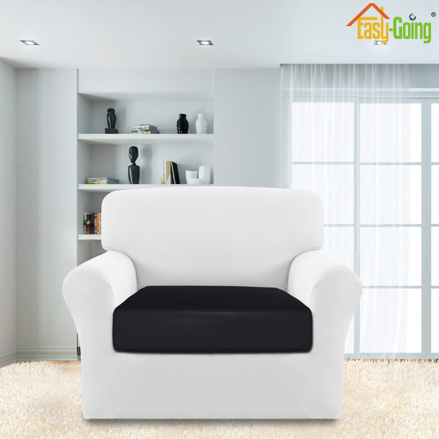 EasyGoing Waterproof Sofa Couch Cushion Cover Removable