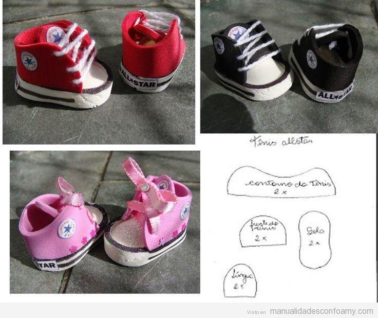 zapatillas-converse-muñecos-goma-eva-patron-plantilla.jpg (736×618 ...
