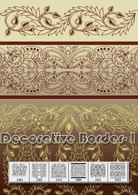 Decorative Border-I by designersbrush.deviantart.com on @deviantART ...