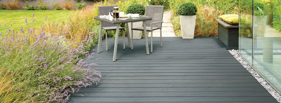 Cheap decking for sale in spain plastic wood pinterest for Garden decking for sale