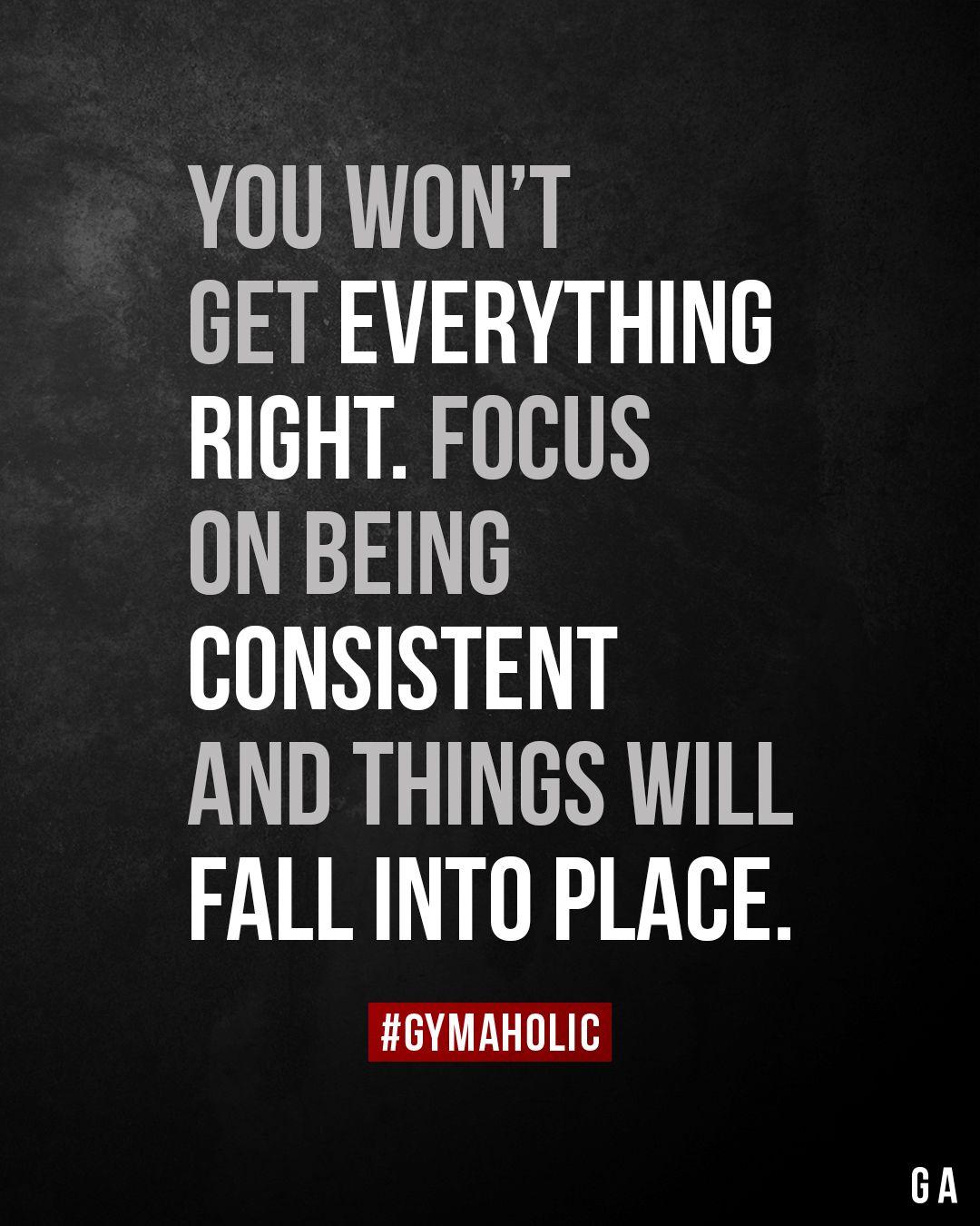 Photo of Sie werden nicht alles richtig machen. Konzentrieren Sie sich darauf, konsequent zu sein, und die Dinge werden zusammenpassen.