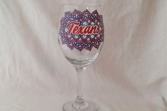 Hey, I found this really awesome Etsy listing at https://www.etsy.com/listing/295360657/houston-texans-hand-painted-wine-glass